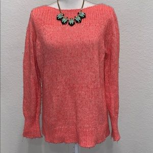 Chic LOFT sweater in Salmon